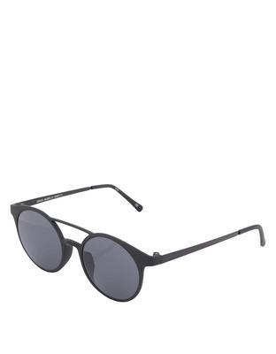 Čierne matné unisex slnečné okuliare Le Specs Demo Mode - 1