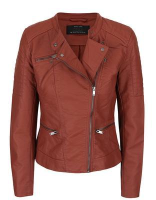 Brick leatherette jacket ONLY New Start - 1