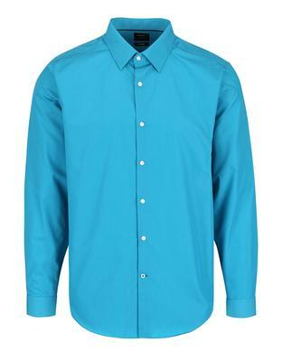 Turquoise formal slim fit shirt Burton Menswear London - 1