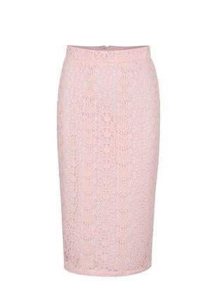 Svetloružová puzdrová sukňa s vyšším pásom Dorothy Perkins - 1