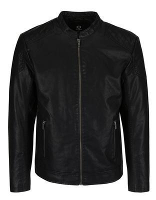 Black leatherette jacket Jack & Jones Rush - 1