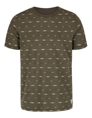 Olive green patterned shirt Jack & Jones, Steve - 1