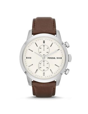 Brown's watch with leather strap Fossil - 1