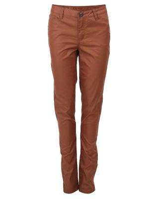 Brown pants with leatherette effect Vero Moda Wonder - 1