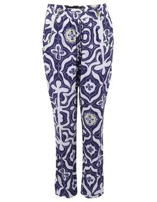 White-blue slacks Carmin Desigual - 1