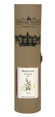 Merlot rose 0,75 pozdní sběr 2010 v dýhovém tubusu - 1