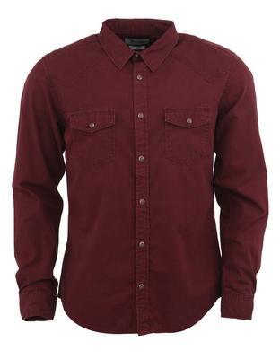 Džínová košile klasická, L | Vínová