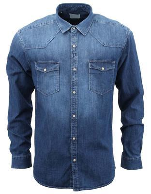 Džínová košile elegance, L   Modrá