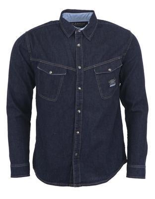 Džínová košile elegance, L | Tmavě modrá
