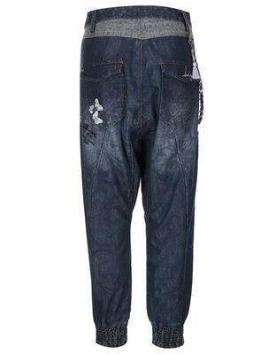 Patterned blue jeans with a reduced seven Desigual Turko Galactic - 2