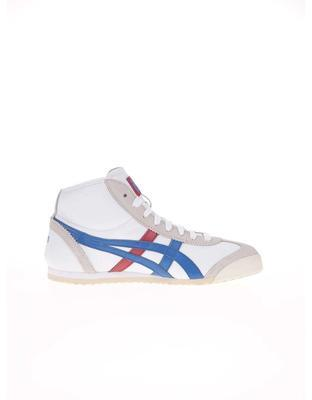 White unisex leather ankle sneakers Onitsuka Tiger Mexico Mid Runner - 2