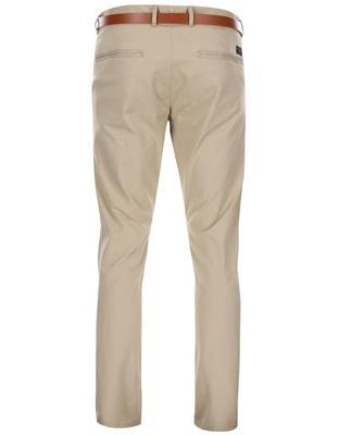 Beige slim trousers with belt Selected Yard - 2