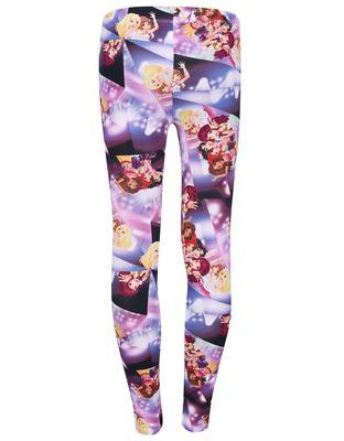 Purple girl over print leggings LEGO wear Porta - 2