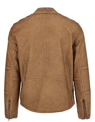 Light brown leatherette jacket Shine Original Travis - 2