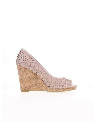 Pink leather heels to wedges Dune London Cassie - 2