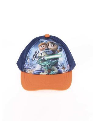 Orange-blue boyish cap imprinted with Star Wars LEGO wear Carlos - 2