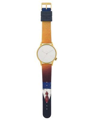 Colorful unisex watch with dial in gold Komono Winston by Rene Magritte - 2
