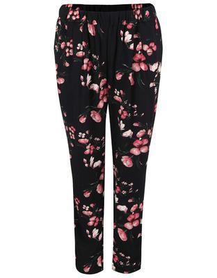 Black pants with flowers Vero Moda Super - 2