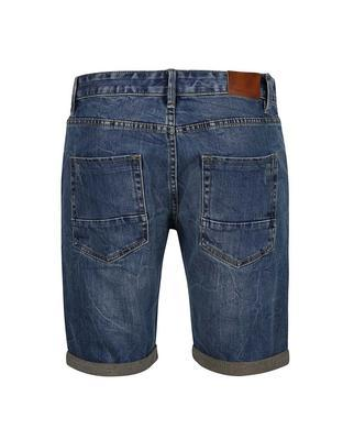 Blue denim shorts with pocákaným effect Shine Original Wardell - 2
