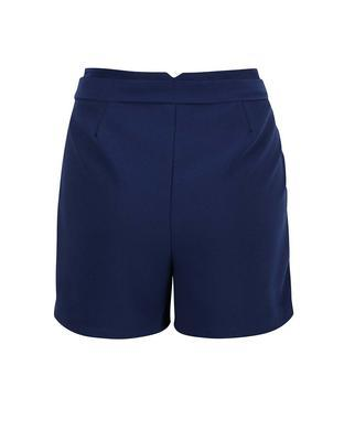 Dark blue shorts with sewn-in belt Vero Moda Garry - 2