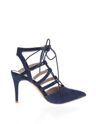 Dark blue sandals in suede adjustment Dorothy Perkins - 2