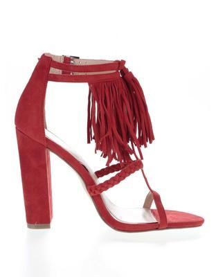Red suede sandals Heel Miss Selfridge - 2