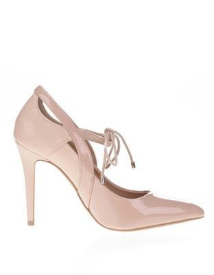 Powder pink high heels with shiny details Dorothy Perkins - 2
