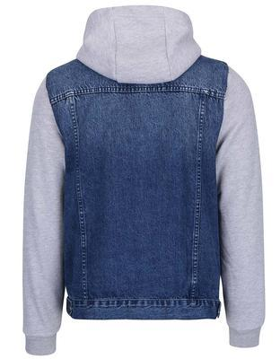 Gray-blue cotton denim jacket with sleeves and hood Burton Menswear London - 2