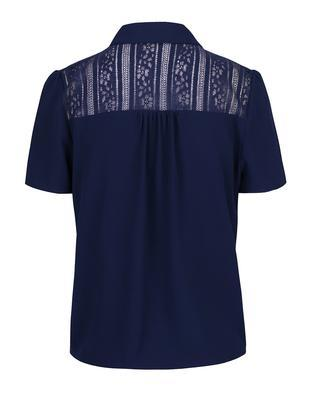 Dark blue blouse with lace collar and saddle Dorothy Perkins - 2
