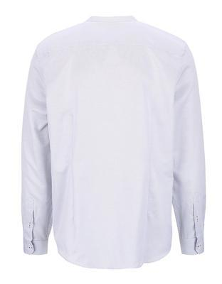 White patterned shirt collarless Burton Menswear London - 2