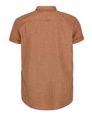 Brown shirt with a fine pattern with short sleeves Burton Menswear London - 2