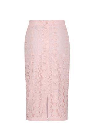 Svetloružová puzdrová sukňa s vyšším pásom Dorothy Perkins - 2
