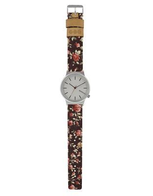 Burgundy ladies watch with a pattern Komono Wizard Print Roseberry - 2