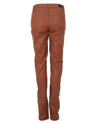 Brown pants with leatherette effect Vero Moda Wonder - 2