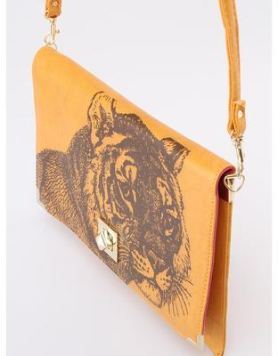 Mustard vintage love letter with a tiger Disaster Bohemia - 2