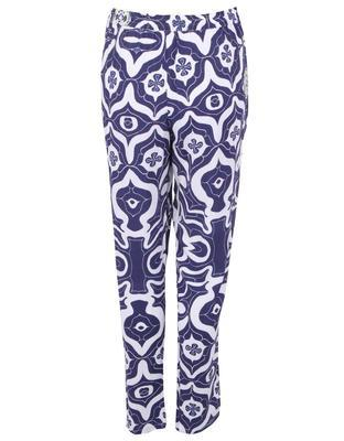 White-blue slacks Carmin Desigual - 2