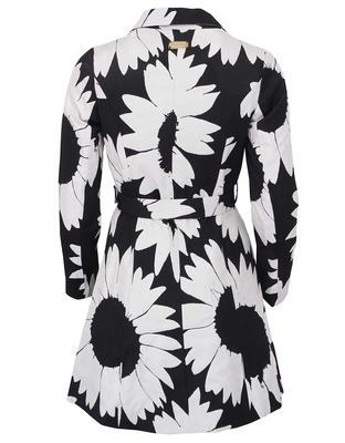 Black-and-white trench coat with flowers Desigual Native Love - 2