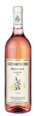 Merlot rose 0,75 pozdní sběr 2010 v dýhovém tubusu - 2