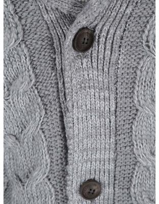 Gray sweater with buttons! Solid Star - 3