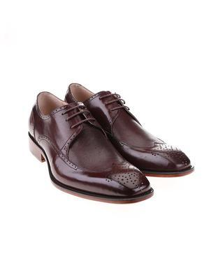 Burgundy-brown leather shoes Dice Harris - 3