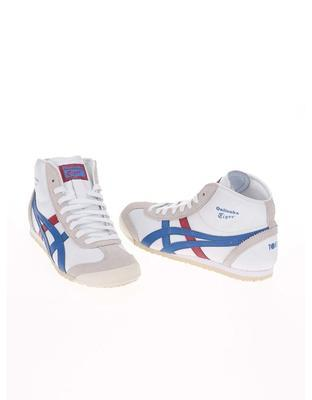 White unisex leather ankle sneakers Onitsuka Tiger Mexico Mid Runner - 3