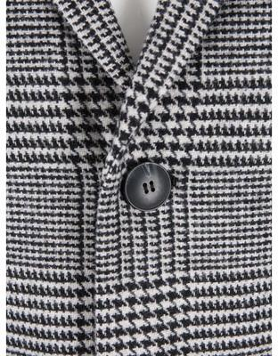 Black-and-white coat with a pattern glen plaid Jack & Jones Abalon - 3
