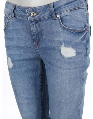 Blue slim fit jeans with torn effect Vero Moda Five - 3