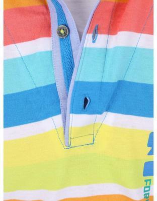 Farebné pruhované chlapčenskú polo triko Boboli - 3