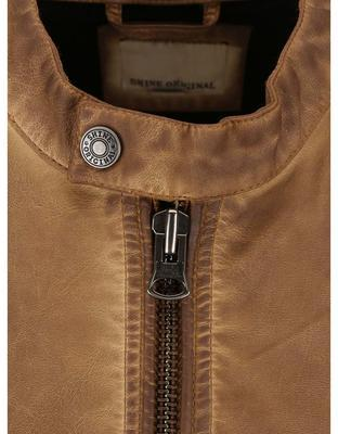 Light brown leatherette jacket Shine Original Travis - 3