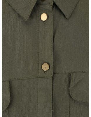 Khaki košeľa s gombíkmi v zlatej farbe Dorothy Perkins - 3