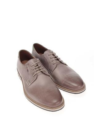 Grey men's leather shoes Lloyd Denia - 3