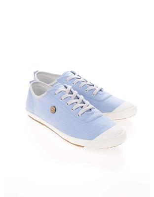 Light blue mens canvas sneakers phage Oak - 3