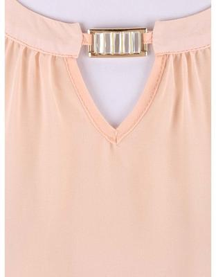 Light pink blouse with a neckline applications Dorothy Perkins - 3