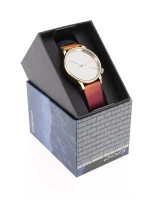 Colorful unisex watch with dial in gold Komono Winston by Rene Magritte - 3